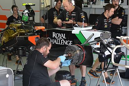 Force India: non era completa la macchina di Perez