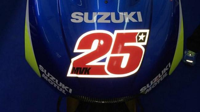 Vinales torna ad utilizzare il numero 25 sulla Suzuki