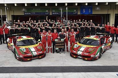 La Ferrari festeggia anche il Mondiale Costruttori GTE