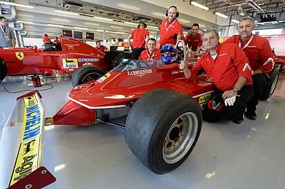 Marc Gené emoziona sulla Ferrari 312 T5 di Villeneuve