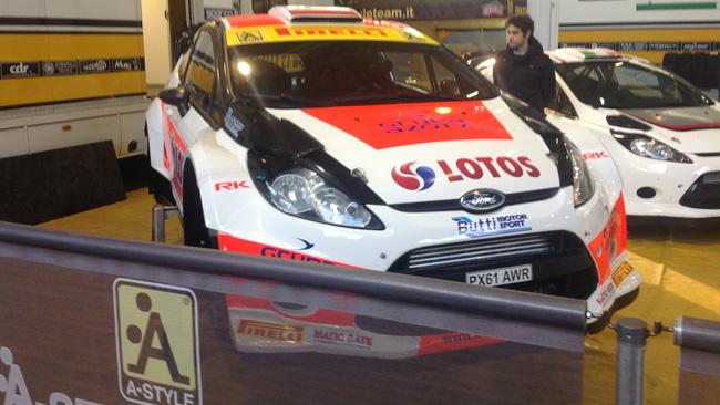 Memorial Bettega: la Ford di Kubica è nel paddock