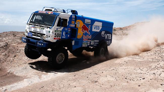 Dakar, Camion, Tappa 4: tripletta Kamaz a Copiapo