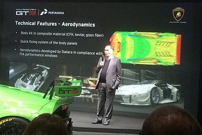 Huracán GT3 con un'aerodinamica molto raffinata