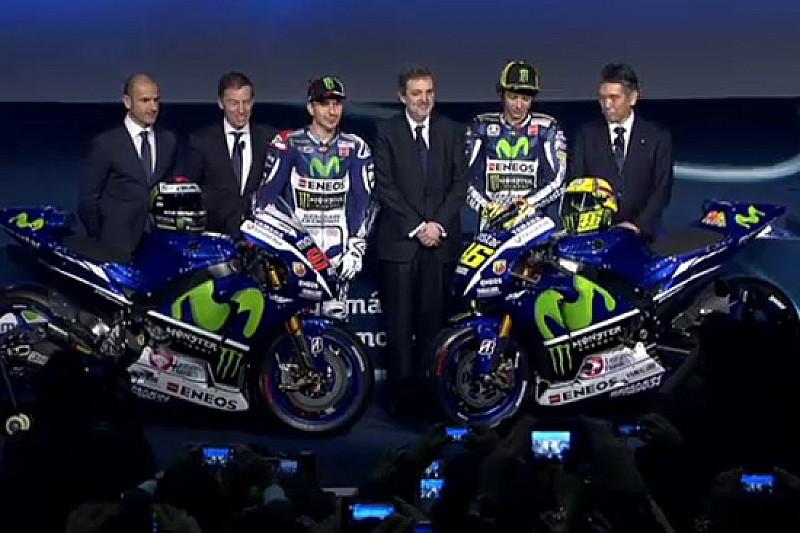 Ecco la livrea 2015 delle Yamaha di Rossi e Lorenzo