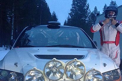 Max Rendina si allena per il Rally di Svezia