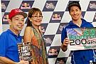 Nicky Hayden festeggia i 200 Gp ad Austin