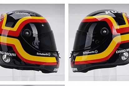 Bernhard con un casco celebrativo per Bellof a Spa