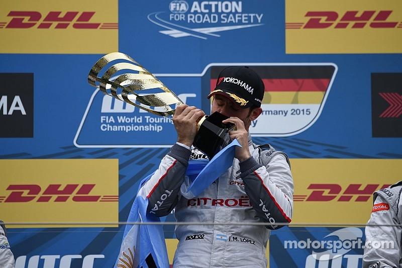 López quedó exultante tras su victoria en Nürburgring