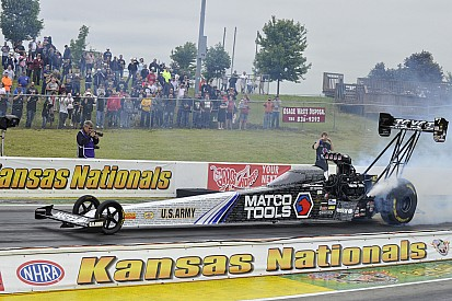Top Fuel points leader Antron Brown could pick up milestone victory at the Summernationals