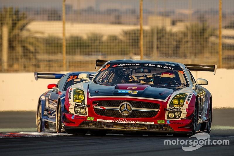 Christiaan Frankenhout puts the Hofor Racing Mercedes-Benz SLS AMG on pole for 12H Zandvoort
