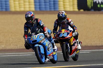 Em uma corrida maluca, Miguel Oliveira vence pela primeira vez na Moto3