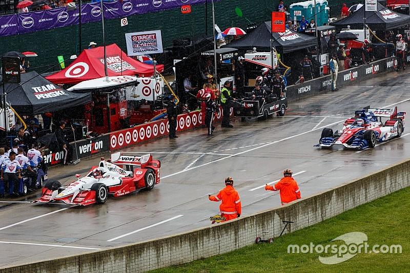 La lluvia suspende calificación de IndyCar
