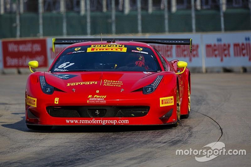Ferrari on the World Challenge Podium in Detroit
