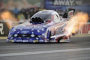 NHRA Qualifying report Warm temperatures hold down Force team qualifying speeds