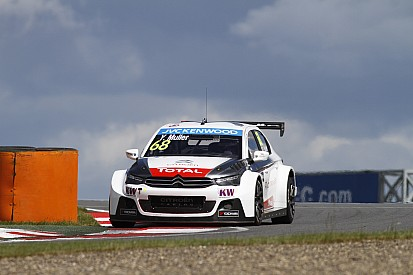 Muller leads Citroen trio in second practice