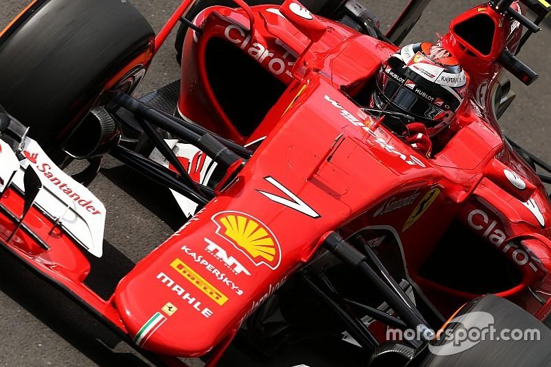 Raikkonen no terminó contento a pesar de doblegar a Vettel