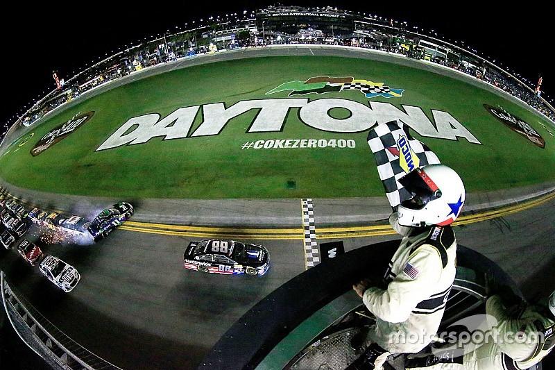 Earnhardt wins as Dillon flips into fence at Daytona