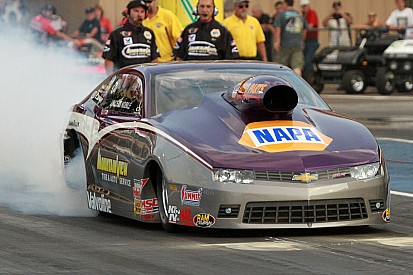 Defending Pro Stock event winner Vincent Nobile senses 2015 luck about to change at Route 66