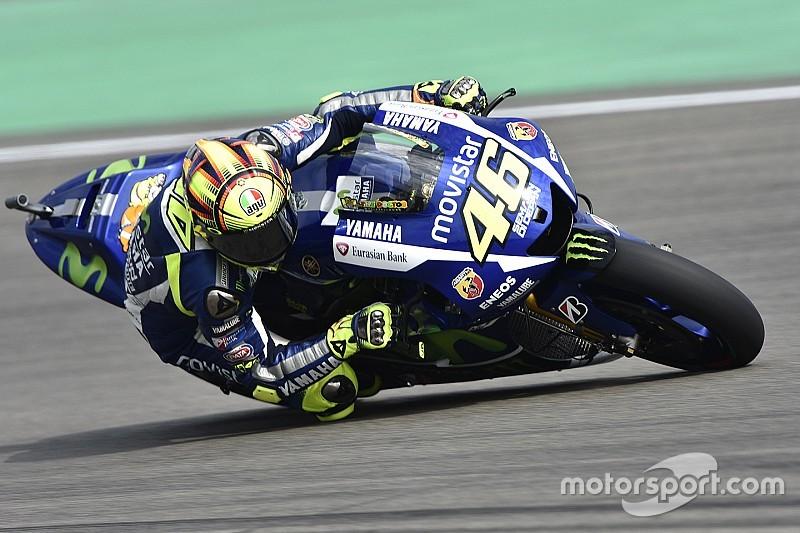 """Valentino Rossi  dice que """"el día no fue tan malo"""""""