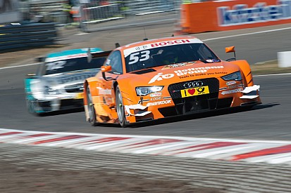 Audi driver Jamie Green on third row of the grid