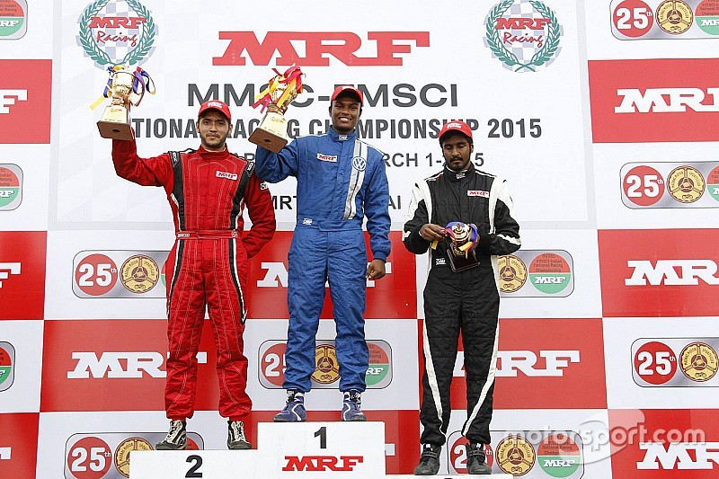 Tharani wins Race 1 after starting on pole