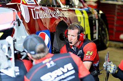 Bowyer and Gordon collide ... In the garage
