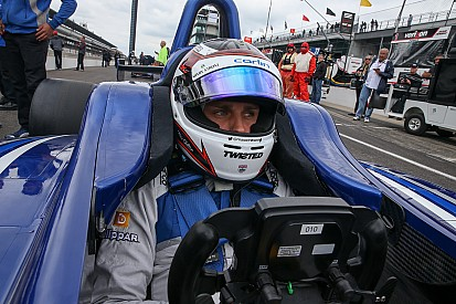 Chilton earns Indy Lights pole, remembers Jules Bianchi