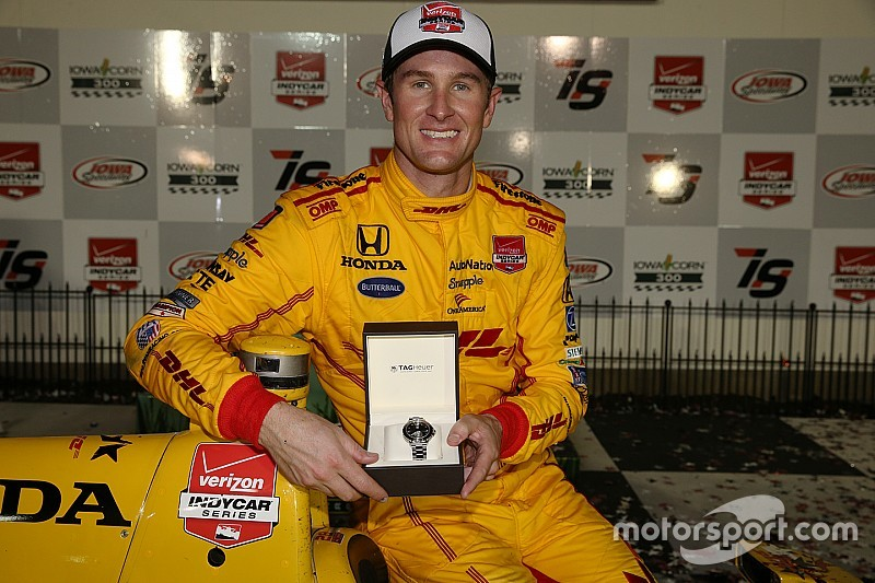 Ryan Hunter-Reay, triunfador en Iowa