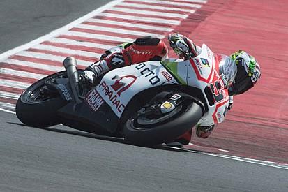 """Danilo Petrucci """"assaggia"""" la Ducati GP14.2 a Misano"""