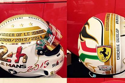 Bruni alla 24 Ore di Le Mans con un casco celebrativo