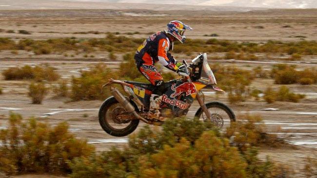 Dakar, Moto, Tappa 8: Barreda crolla, Coma è il leader