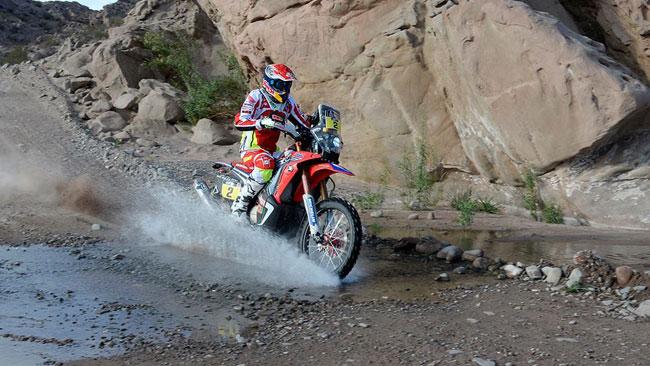 Dakar, Moto, Tappa 4: Barreda consolida la leadership