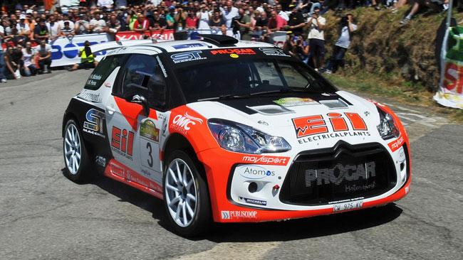 La DS3 R5 di Michelini cresce al Rally del Casentino