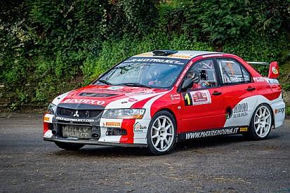 Max Rendina al via del Rally di San Marino