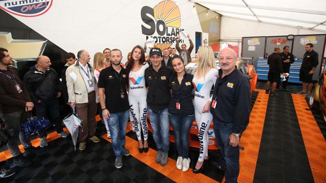 Sini celebra il primo podio della Chevrolet Camaro