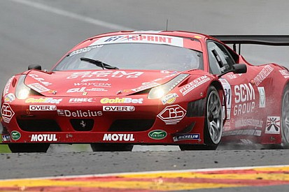 La Ferrari 458 di Cadei-Mancini in pole position a Spa