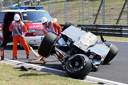 Perez escapes injury in massive shunt