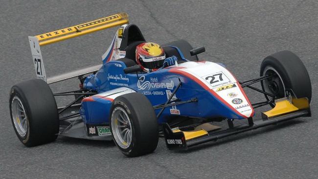 Maxim Zimin alla sua prima pole position