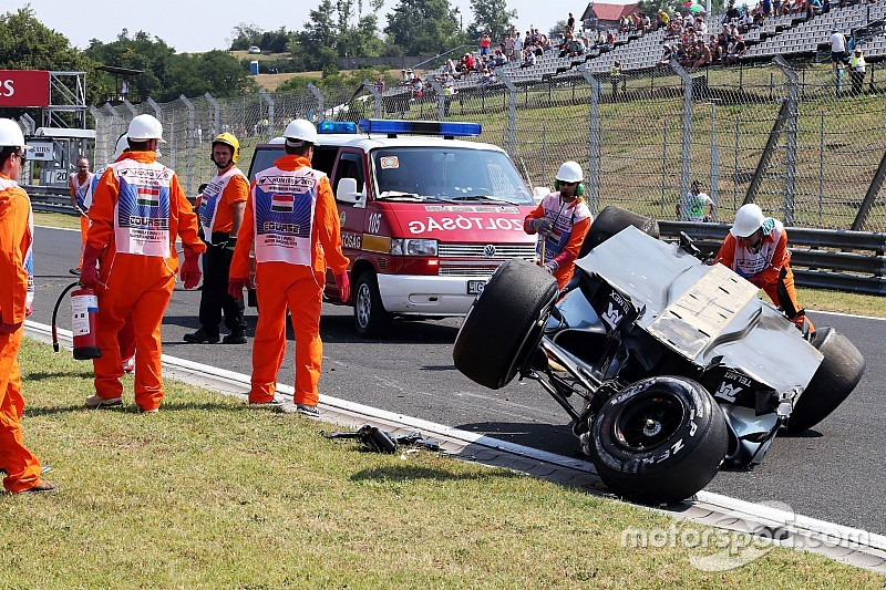 Force India to sit out second practice after Perez shunt