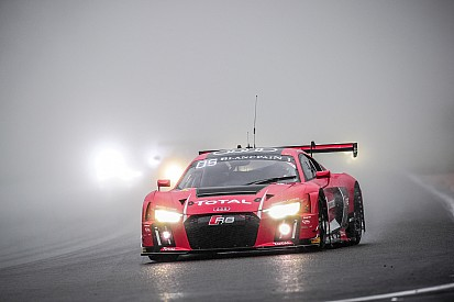 2014 winners leading Total 24 Hours of Spa