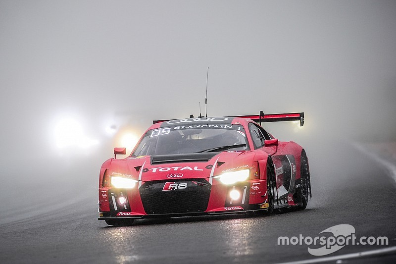 Spa 24: Audi on top after rain-affected opening hours