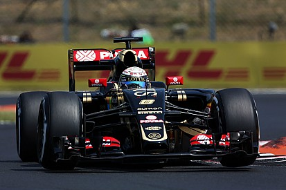 Grosjean qualified 10th and Maldonado 14th in sweltering conditions at the Hungaroring today