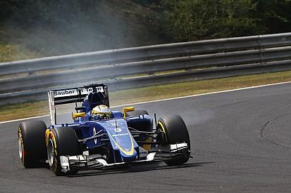Sauber en perdition avec les pneus sur le Hungaroring