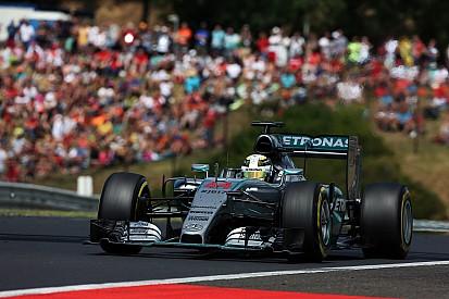 """Hamilton a dû """"se calmer"""" durant la course"""