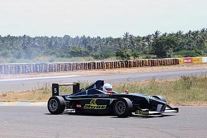 Rabindra take winning honours in race one of JK Tyre