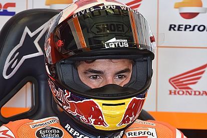 Na pole, Márquez se preocupa com a duração da prova e pneus