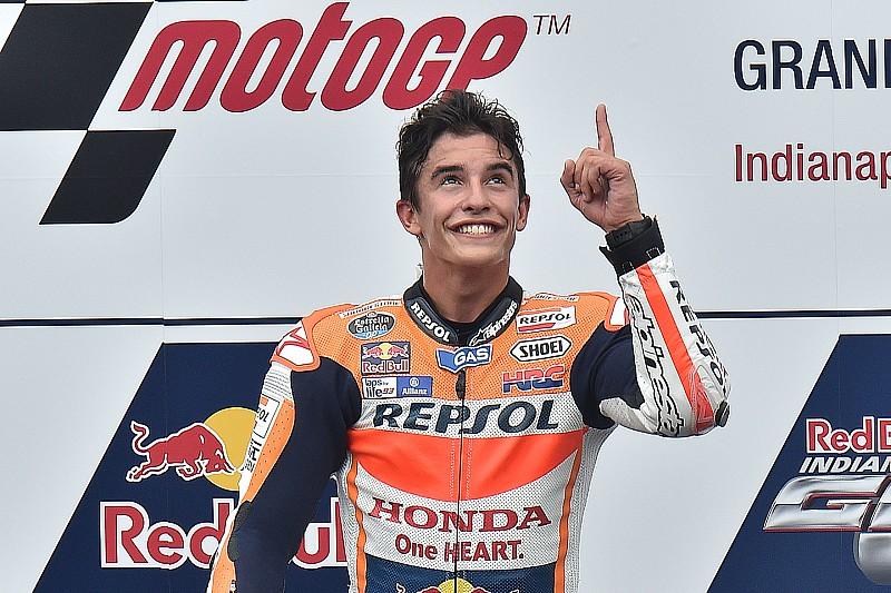 Indy MotoGP: Marquez passes Lorenzo to win, Rossi on podium