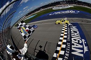 NASCAR Truck Reporte de la carrera Busch libra una gran batalla para ganar