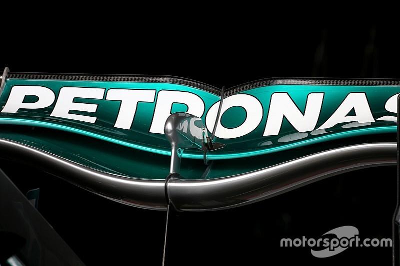 Mercedes привезла в Спа новое заднее крыло