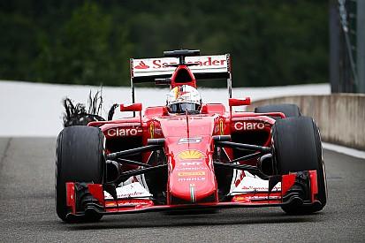 """Furioso com estouro de pneu, Vettel dispara: """"é inaceitável"""""""